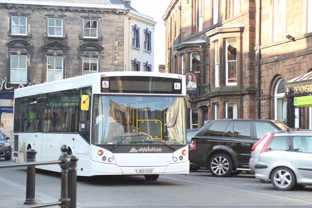 Bus in the centre of Penrith